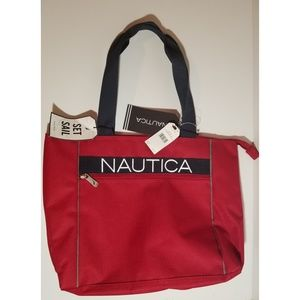NWT Nautica Hayes Point Zippered Tote